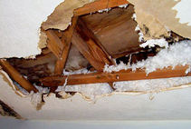 Leaking Roof can cause serious interior damage to your home